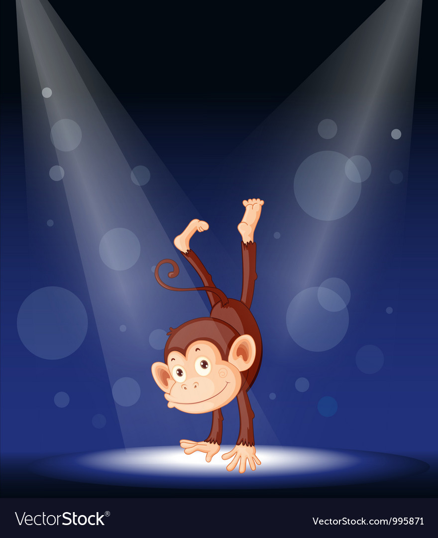 Monkey stage performance vector | Price: 1 Credit (USD $1)