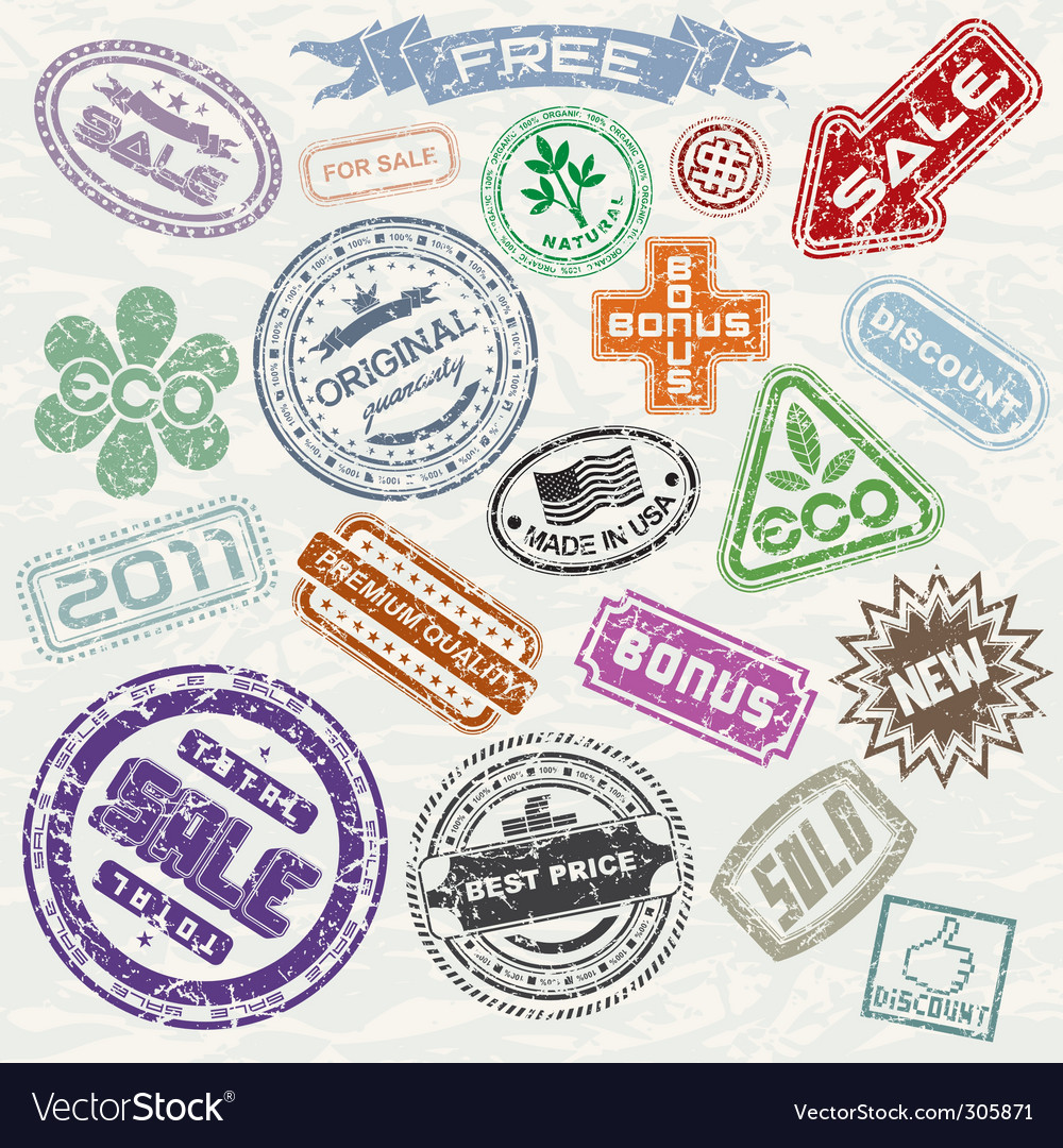 Stamps collection vector | Price: 1 Credit (USD $1)