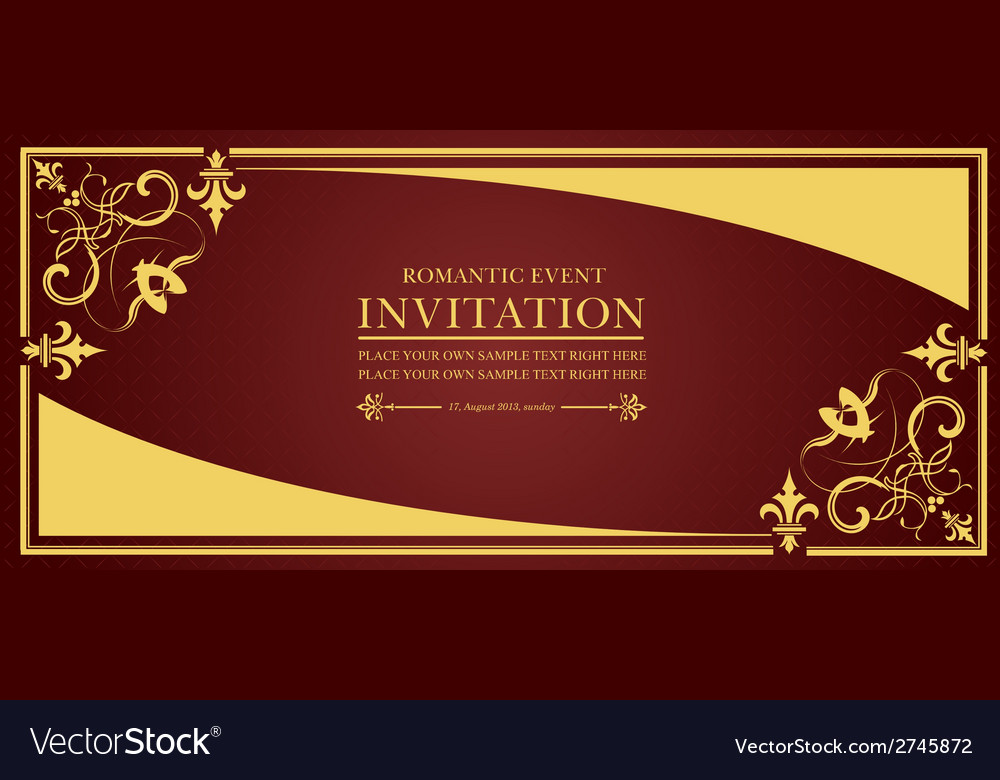 Al 0649 invitation 01 vector | Price: 1 Credit (USD $1)