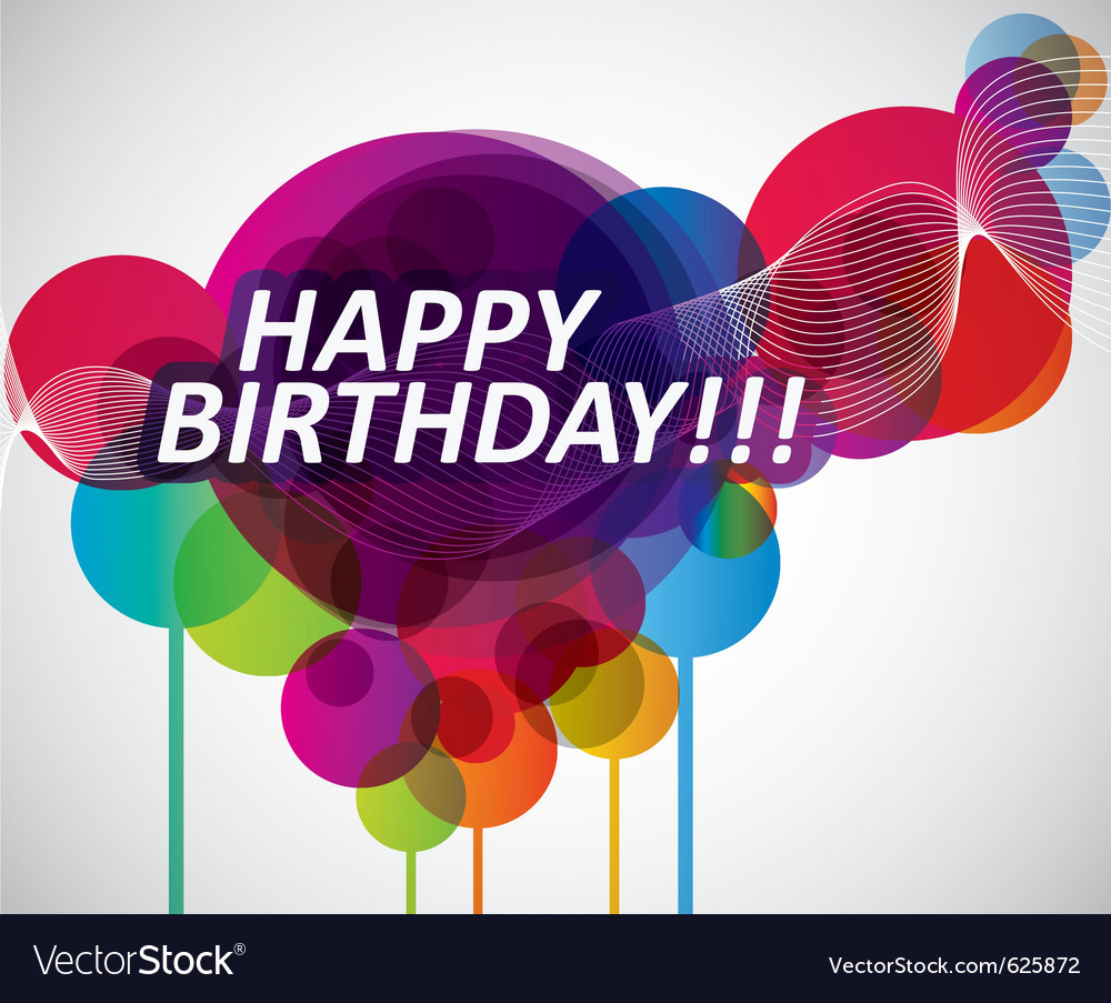 Colorful happy birthday banner vector | Price: 1 Credit (USD $1)