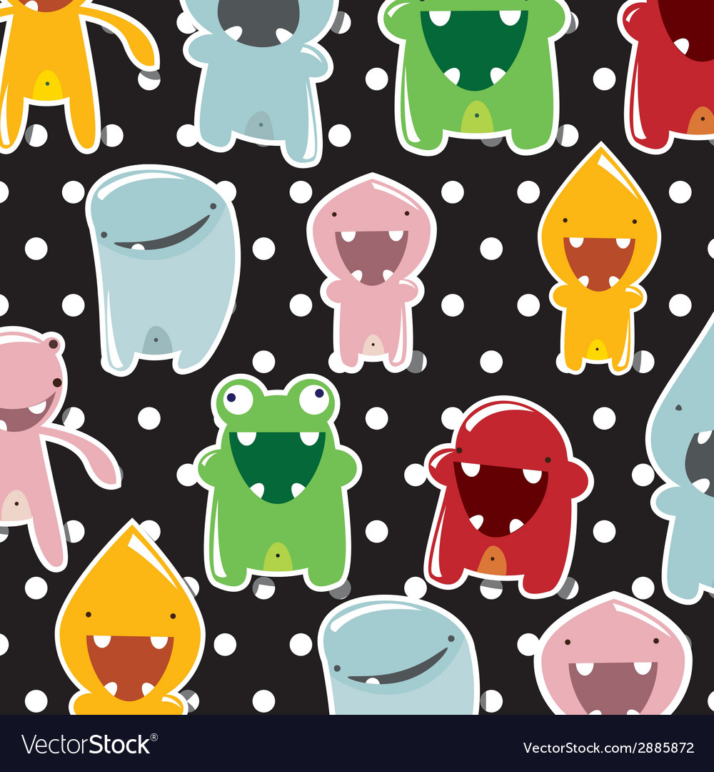 Cute colorful monsters vector   Price: 1 Credit (USD $1)