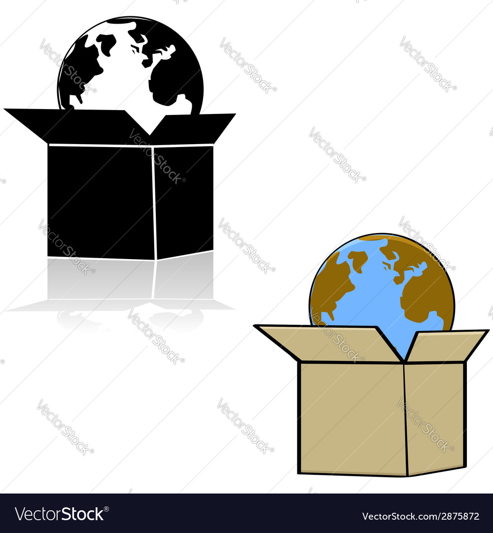 Earth in a box vector | Price: 1 Credit (USD $1)