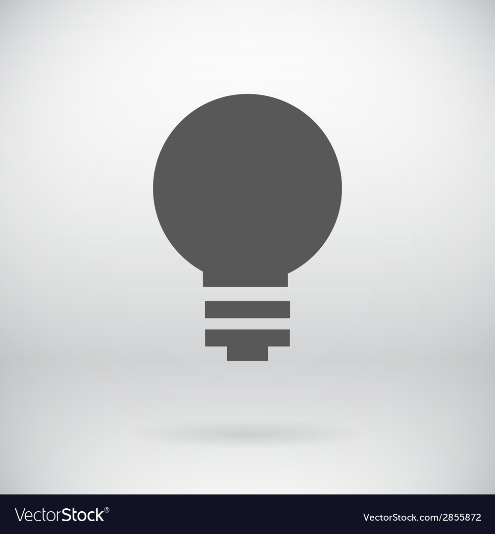 Flat save energy bulb light icon symbol background vector | Price: 1 Credit (USD $1)