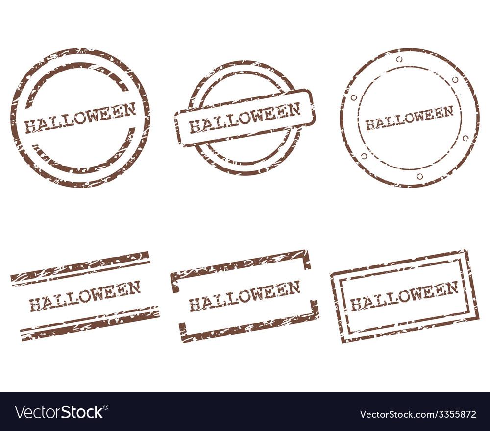 Halloween stamps vector | Price: 1 Credit (USD $1)