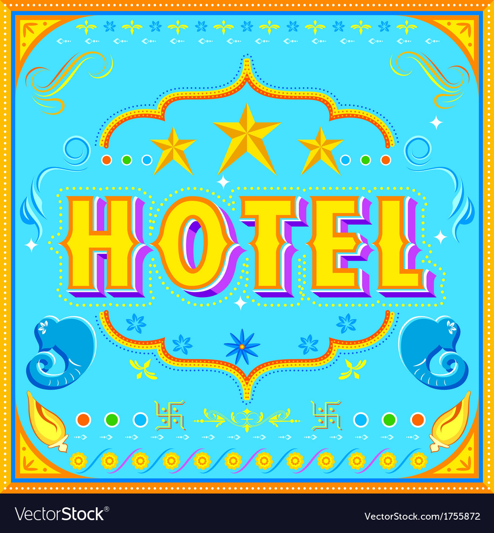 Hotel poster vector | Price: 1 Credit (USD $1)