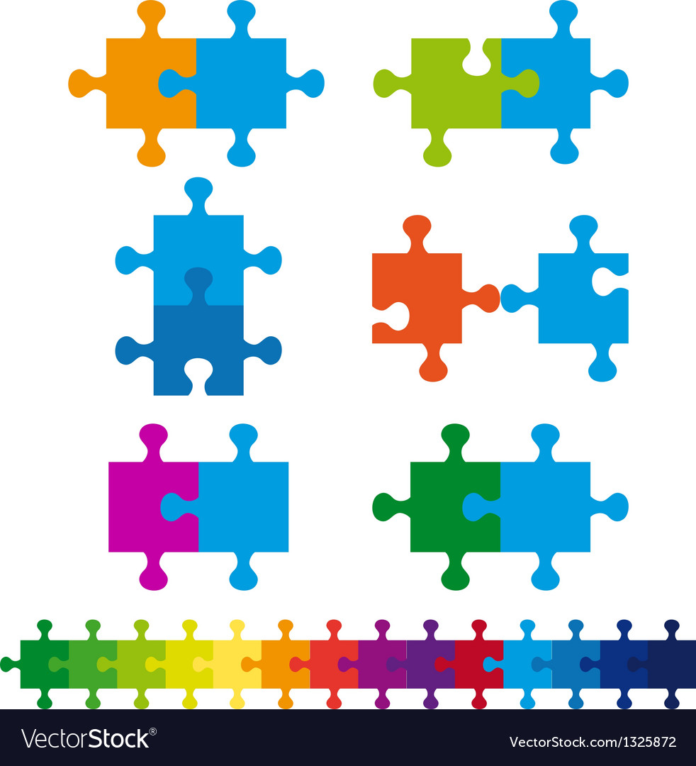 Jigsaw puzzle set vector | Price: 1 Credit (USD $1)
