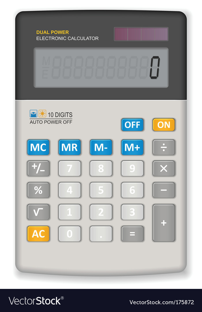Office calculator vector | Price: 1 Credit (USD $1)