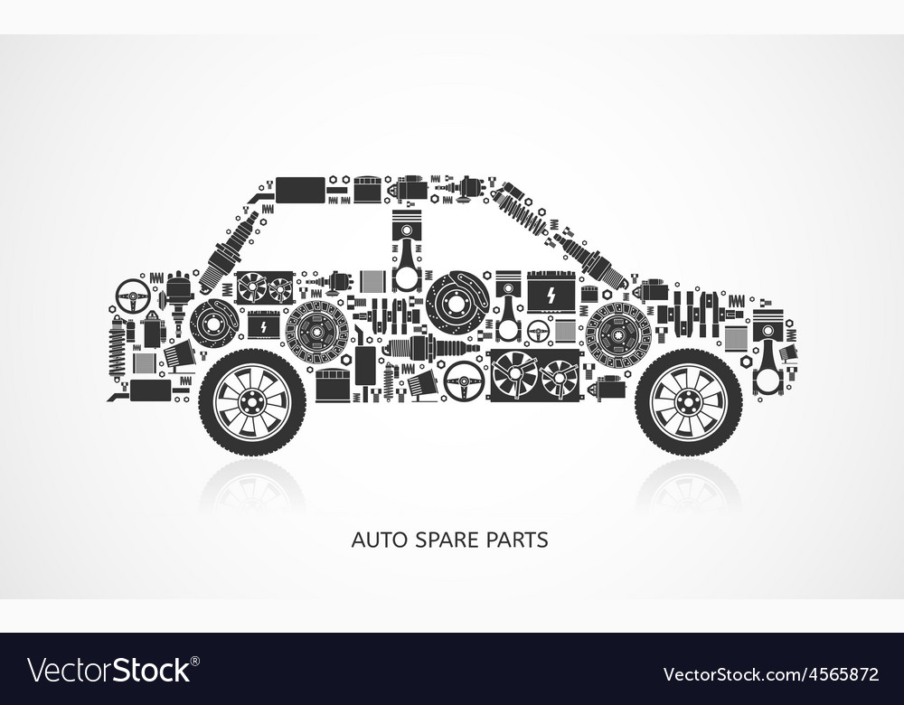 Set of auto spare parts vector | Price: 1 Credit (USD $1)
