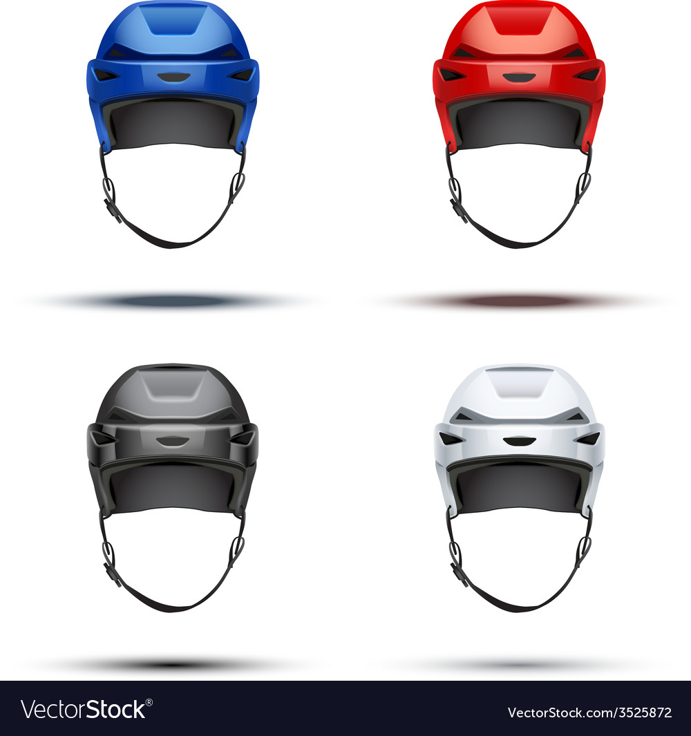 Set of classic ice hockey helmets vector | Price: 1 Credit (USD $1)