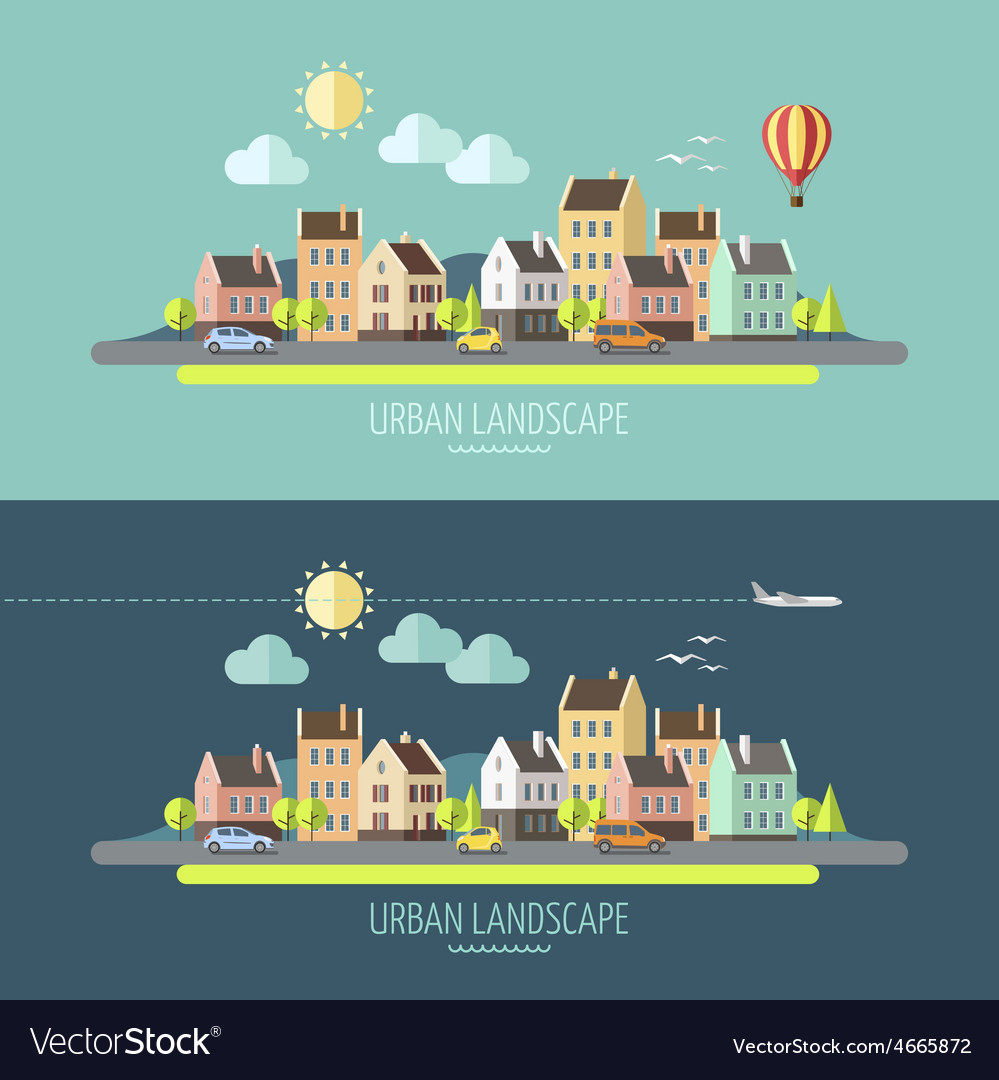 Urban landscape vector | Price: 3 Credit (USD $3)