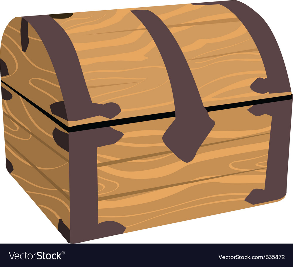 Wooden treasure or pirate chest vector | Price: 1 Credit (USD $1)