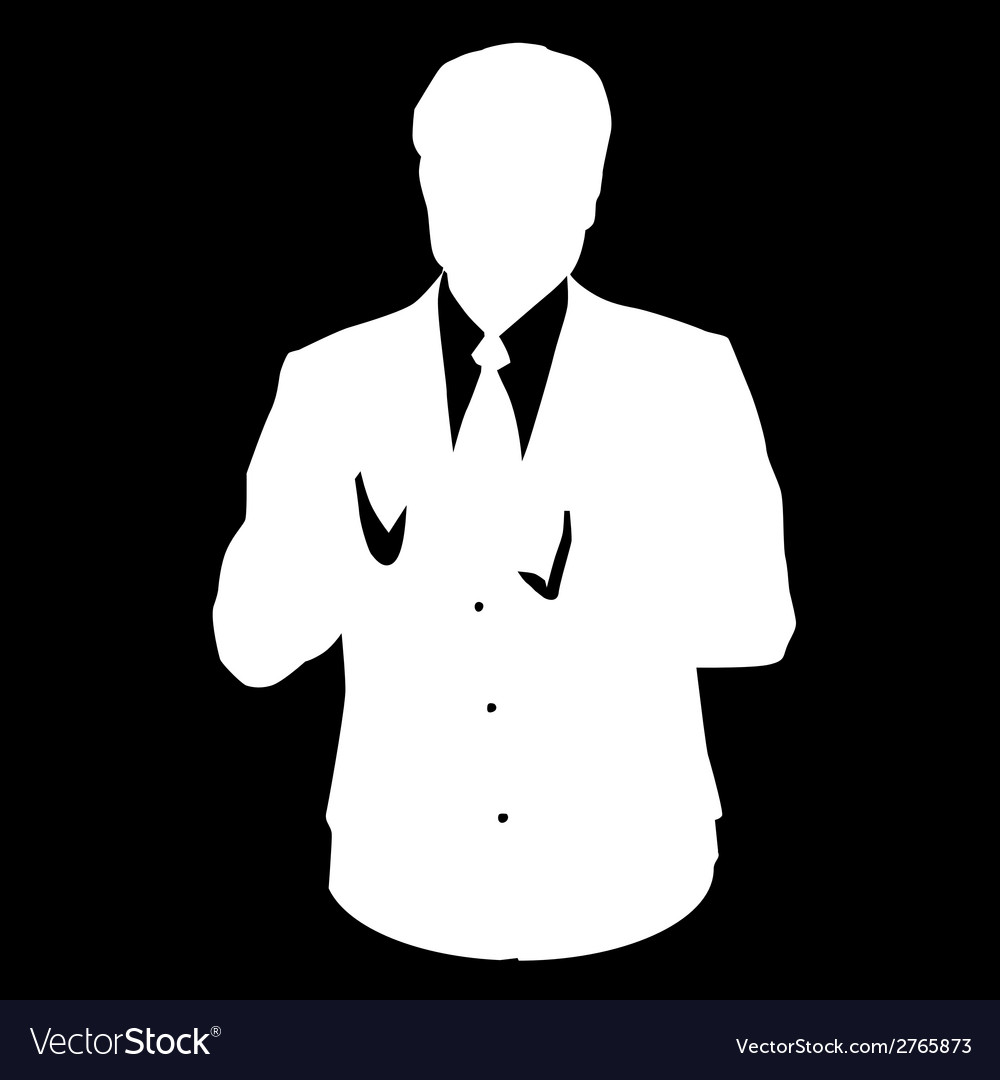 Bussines man suit stencil vector | Price: 1 Credit (USD $1)