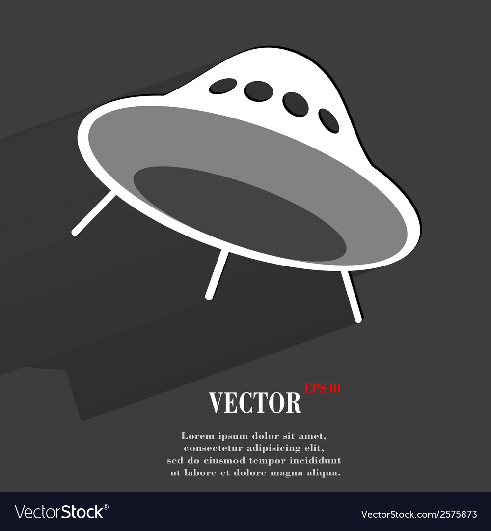 Flat modern web button with long shadow and space vector | Price: 1 Credit (USD $1)
