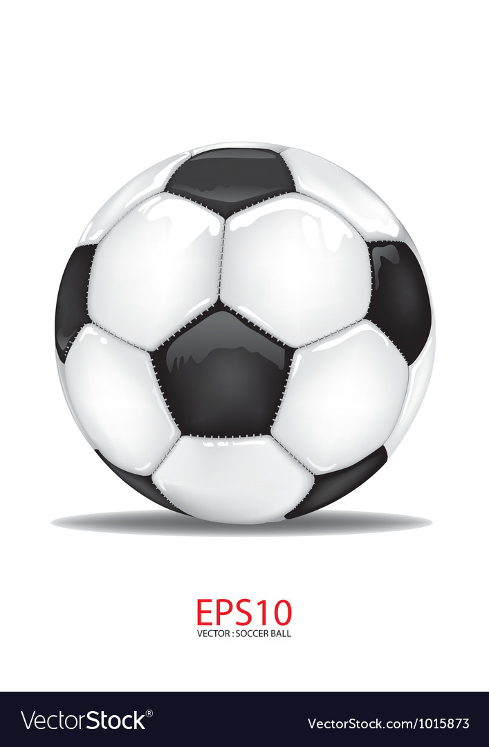 Football soccer ball isolated on white vector | Price: 1 Credit (USD $1)