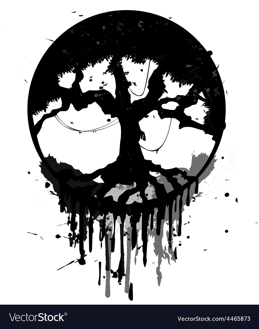 Grunge abstract tree vector | Price: 1 Credit (USD $1)