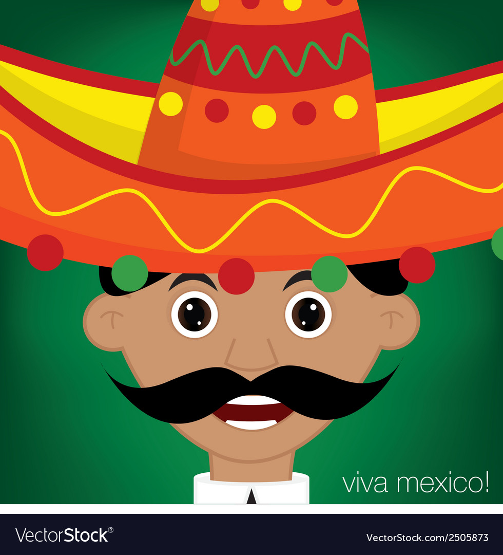 Mexican man character in format vector | Price: 1 Credit (USD $1)