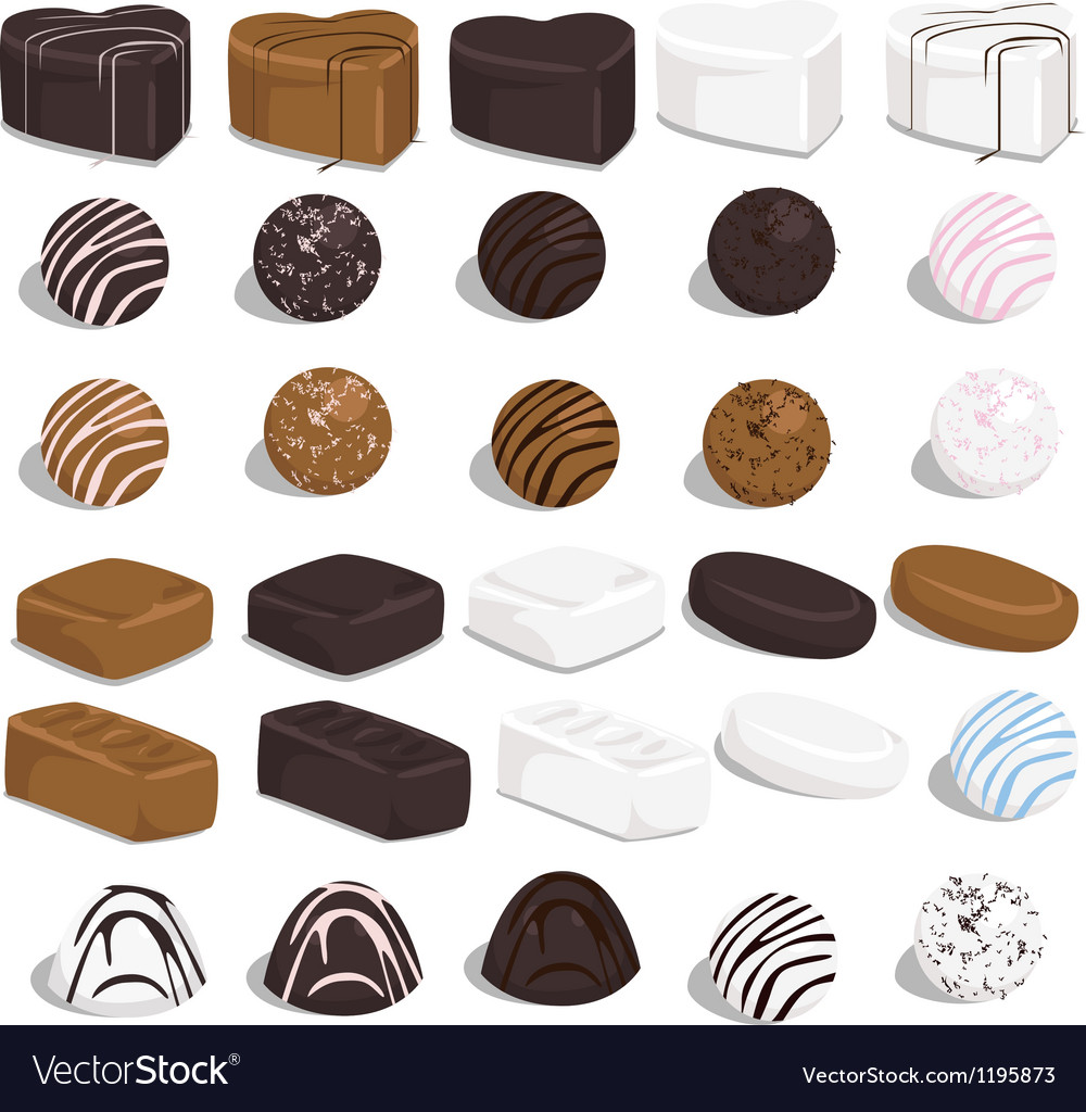 Set of candies vector | Price: 1 Credit (USD $1)