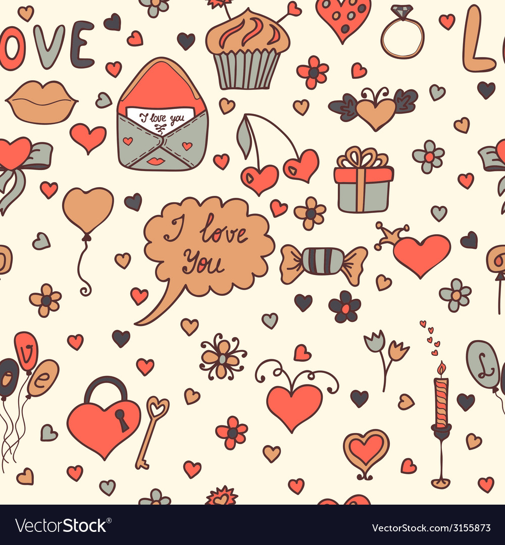 Stylish romantic seamless pattern in vector | Price: 1 Credit (USD $1)