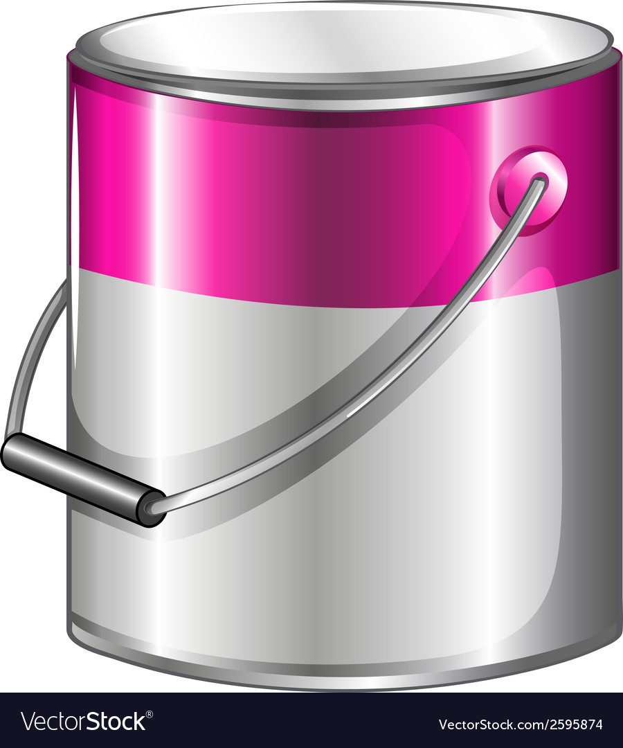 A can of pink paint vector | Price: 1 Credit (USD $1)