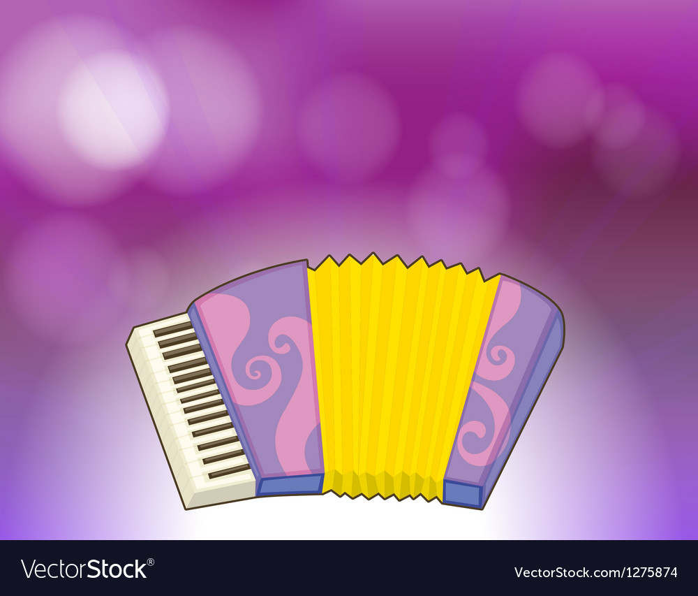 A purple stationery with a musical instrument vector | Price: 1 Credit (USD $1)