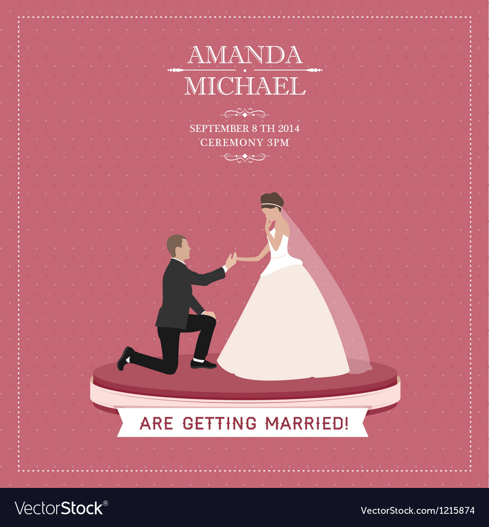 Are getting married vector | Price: 3 Credit (USD $3)