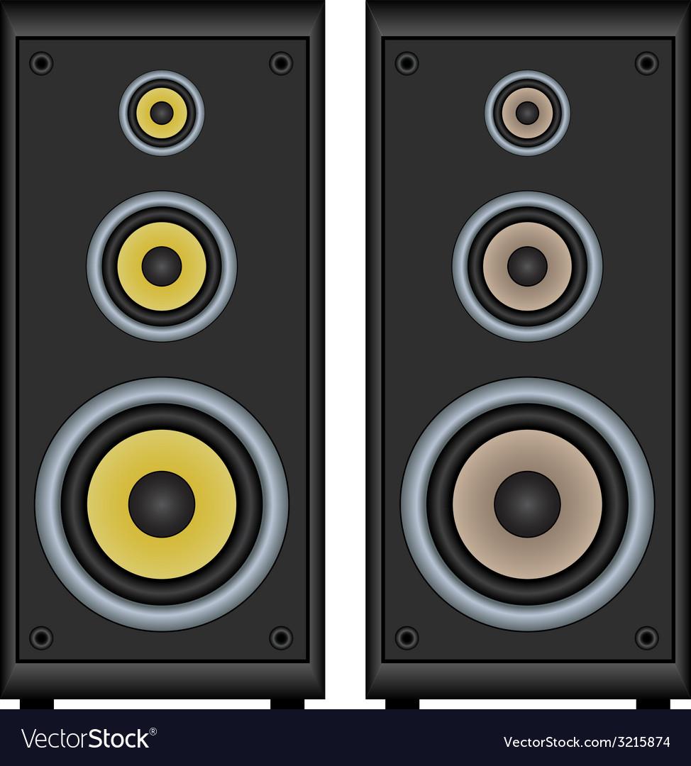 Audio speakers vector | Price: 1 Credit (USD $1)