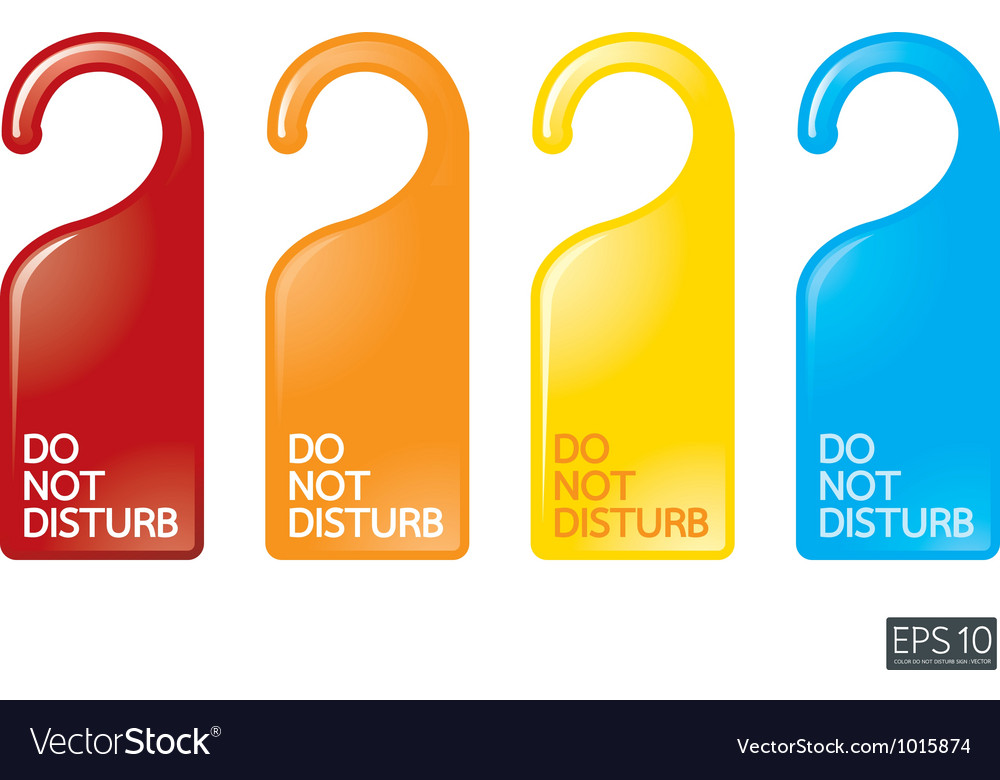 Door knob or hanger sign - do not disturb vector | Price: 1 Credit (USD $1)