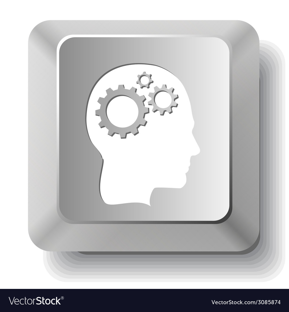 Human brain computer key vector | Price: 1 Credit (USD $1)