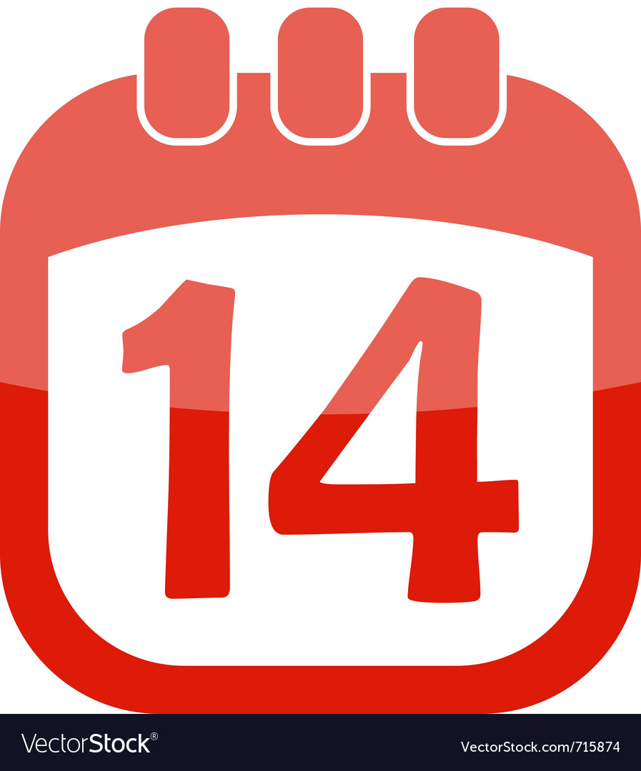 Icon calendar 14 vector | Price: 1 Credit (USD $1)