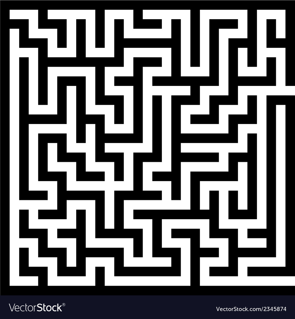 Maze labyrinth vector | Price: 1 Credit (USD $1)