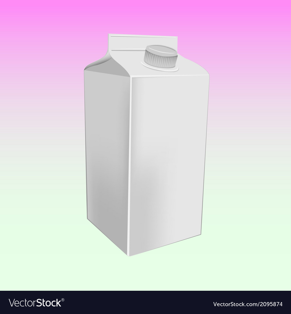 Milk box mockup vector | Price: 1 Credit (USD $1)