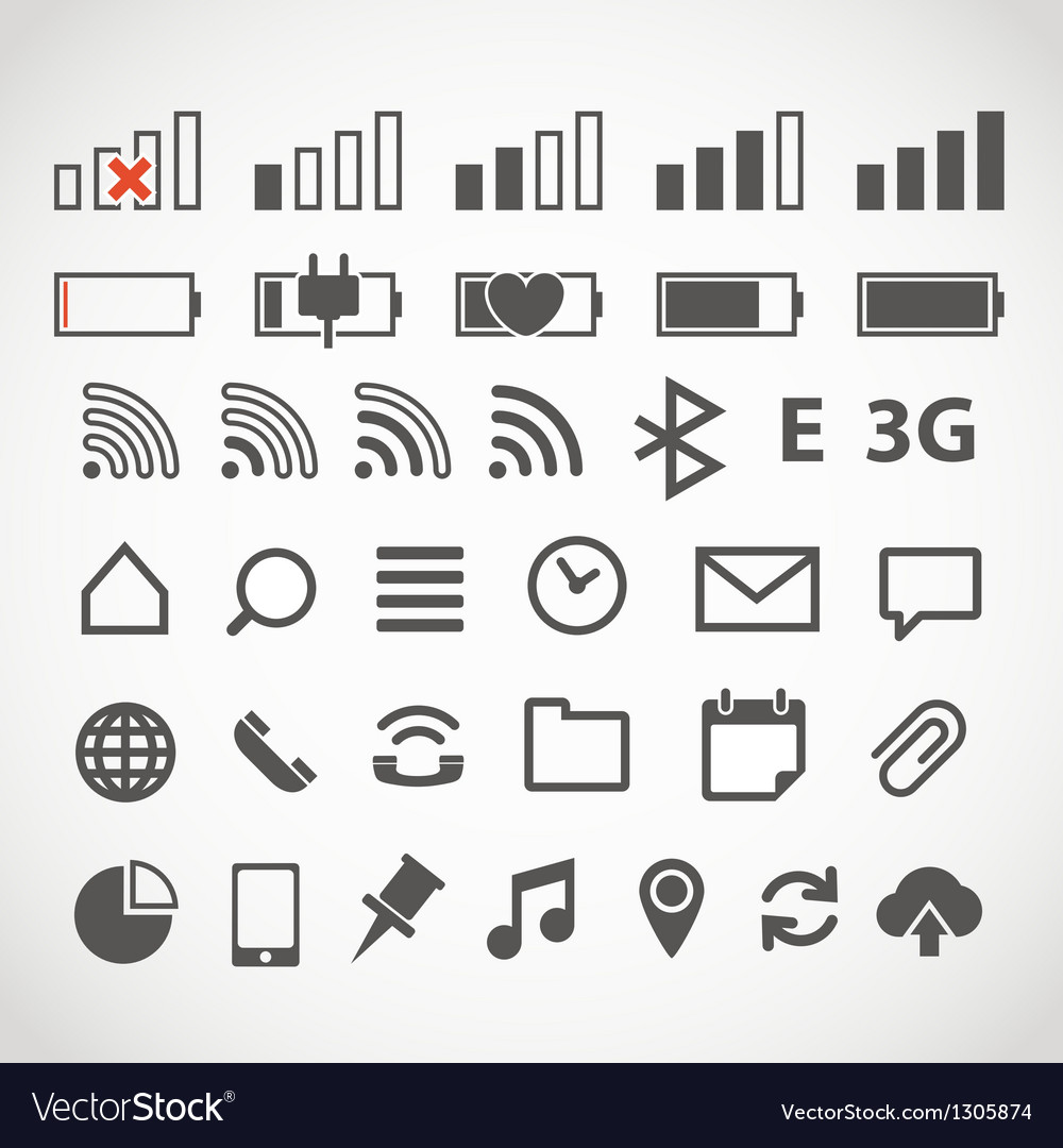 Modern gadget web icons collection vector | Price: 1 Credit (USD $1)