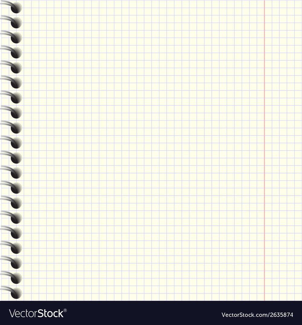 Notebook paper texture vector | Price: 1 Credit (USD $1)