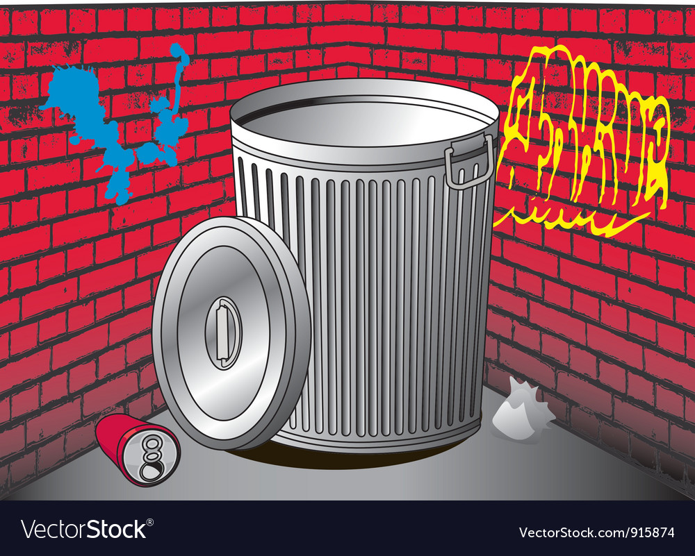 Trashcan vector | Price: 1 Credit (USD $1)