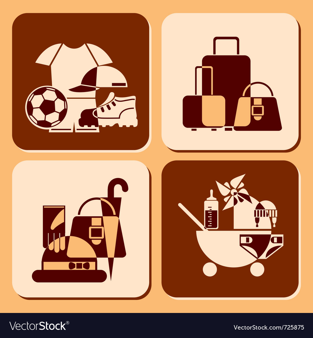 Accessories icons vector | Price: 1 Credit (USD $1)