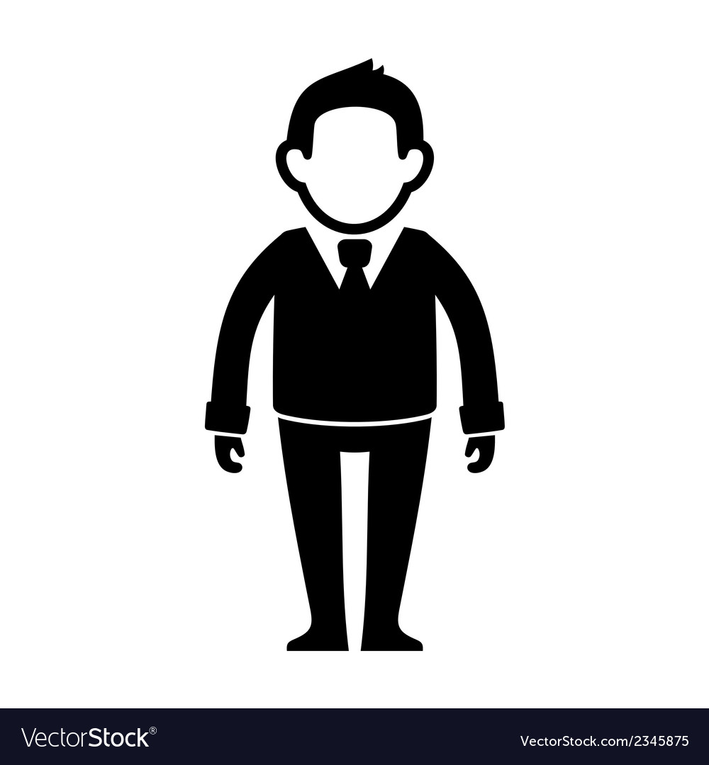 Businessman black silhouette web icon vector | Price: 1 Credit (USD $1)