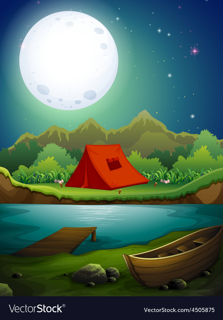 Camping ground vector | Price: 3 Credit (USD $3)