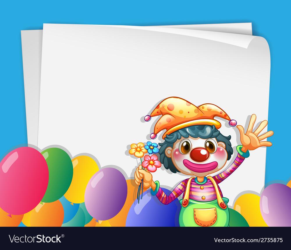 Clown banner vector | Price: 1 Credit (USD $1)
