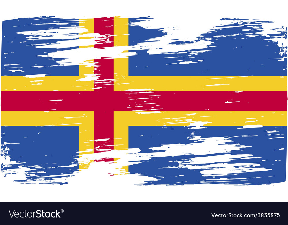 Flag of aland with old texture vector | Price: 1 Credit (USD $1)
