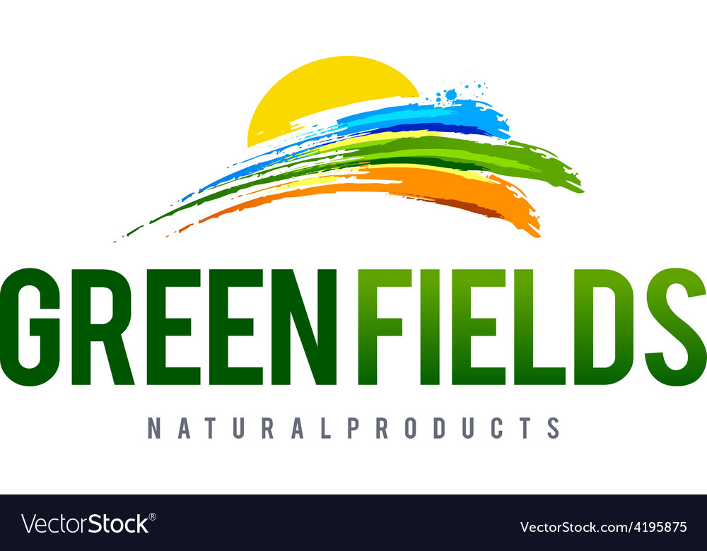 Green field logo vector | Price: 1 Credit (USD $1)