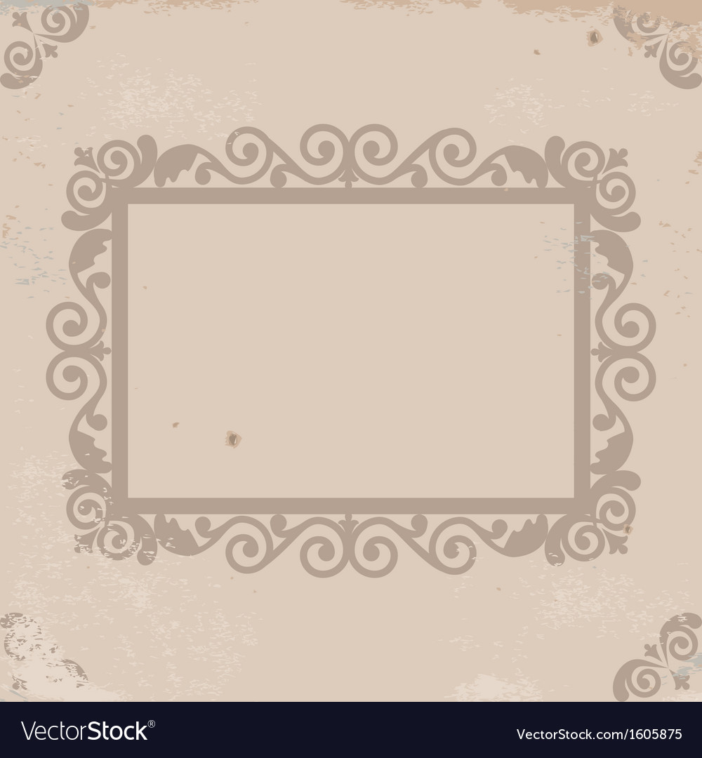 Old worn texture with pattern frame vector | Price: 1 Credit (USD $1)