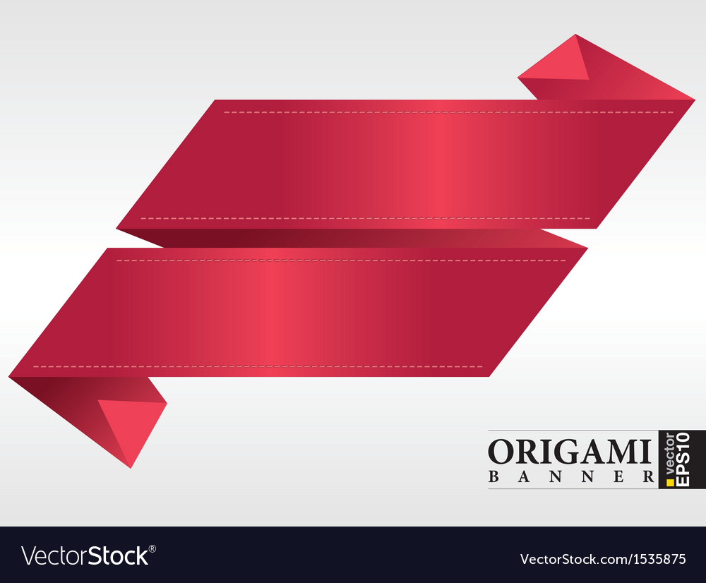 Origami ribbon banners vector | Price: 1 Credit (USD $1)