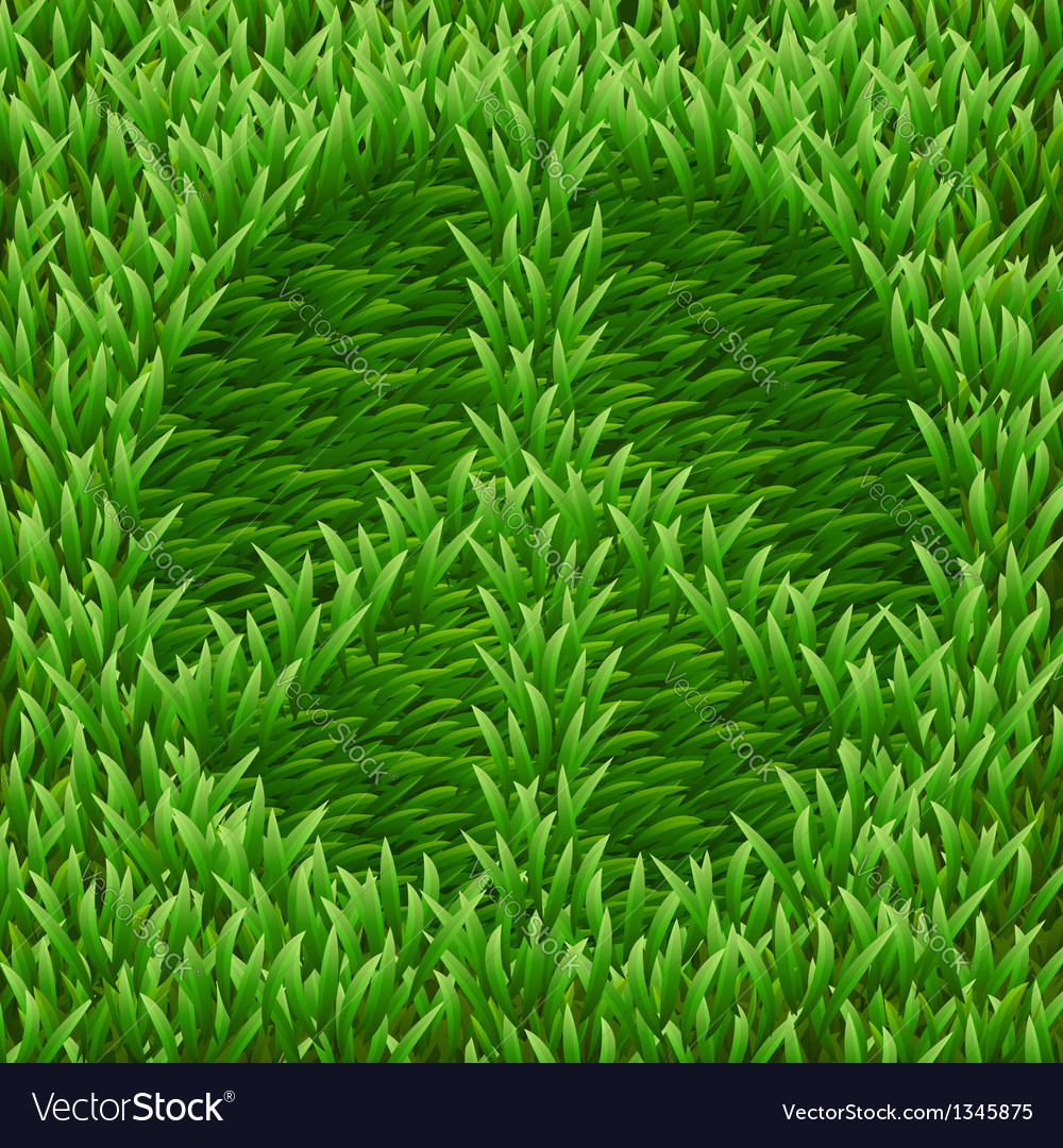 Pacific symbol on green grass vector | Price: 1 Credit (USD $1)