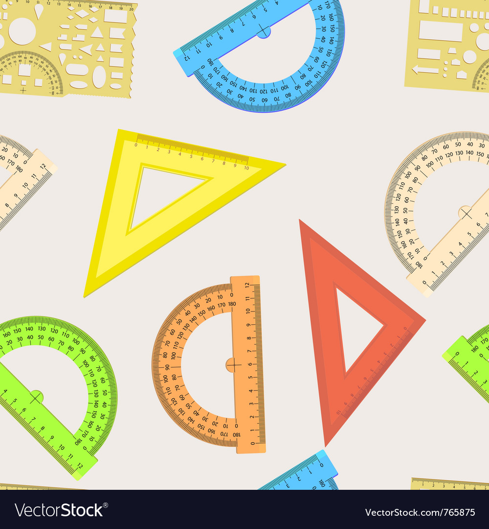 Ruler and protractor vector | Price: 1 Credit (USD $1)
