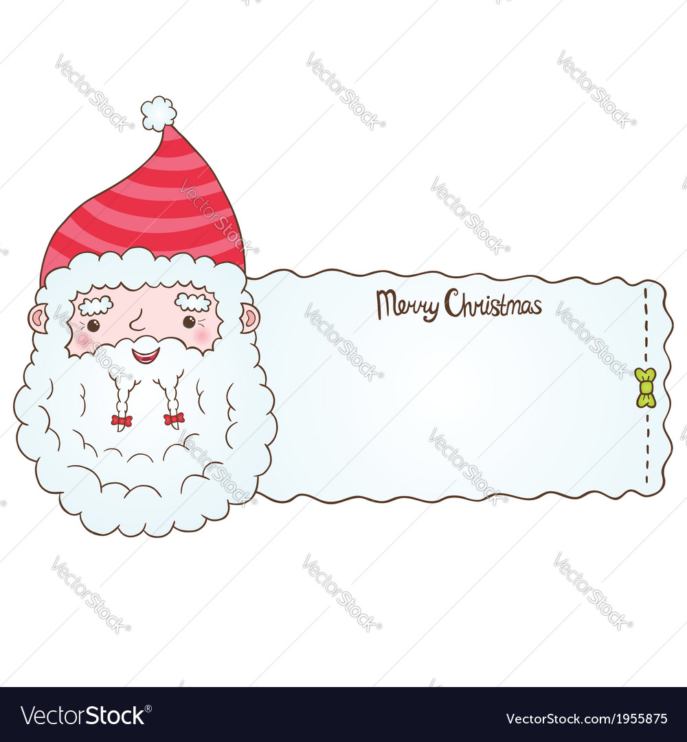 Santa claus and christmas banner vector | Price: 1 Credit (USD $1)