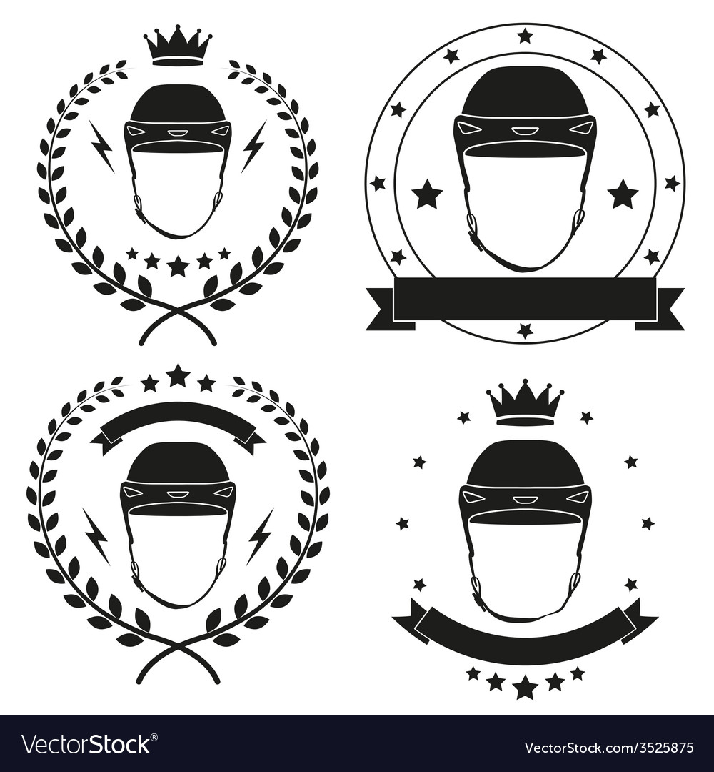 Set of vintage motor club badge and label vector | Price: 1 Credit (USD $1)