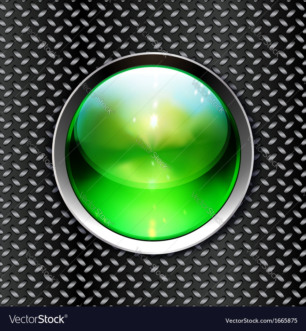 Techno background with glossy button metal banner vector | Price: 1 Credit (USD $1)