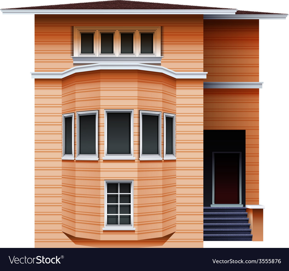 A tall brown building vector | Price: 3 Credit (USD $3)