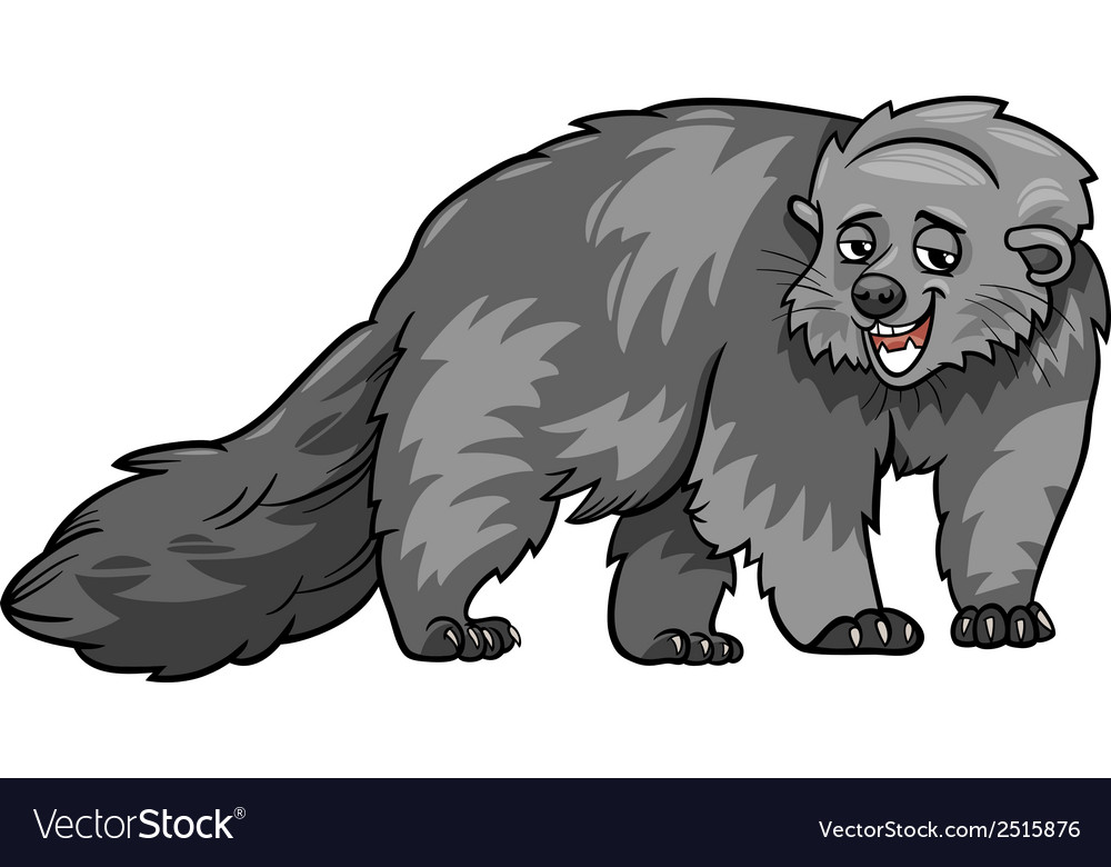 Bearcat animal cartoon vector | Price: 1 Credit (USD $1)