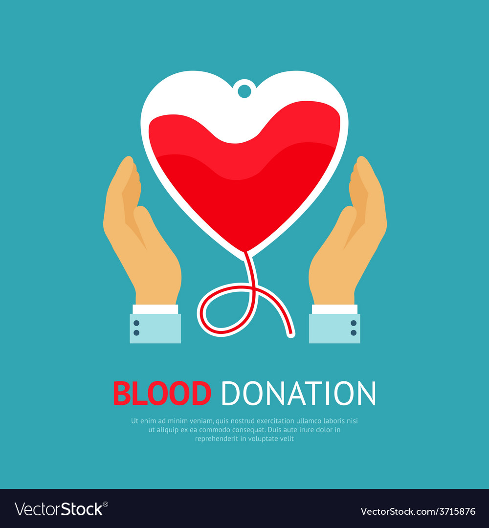 Blood donation poster vector | Price: 1 Credit (USD $1)